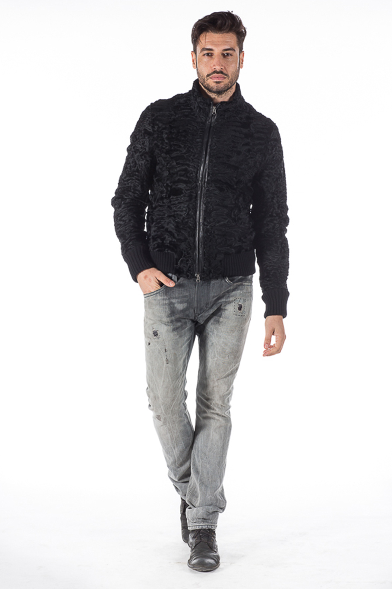 Persian fur bomber ultraslim