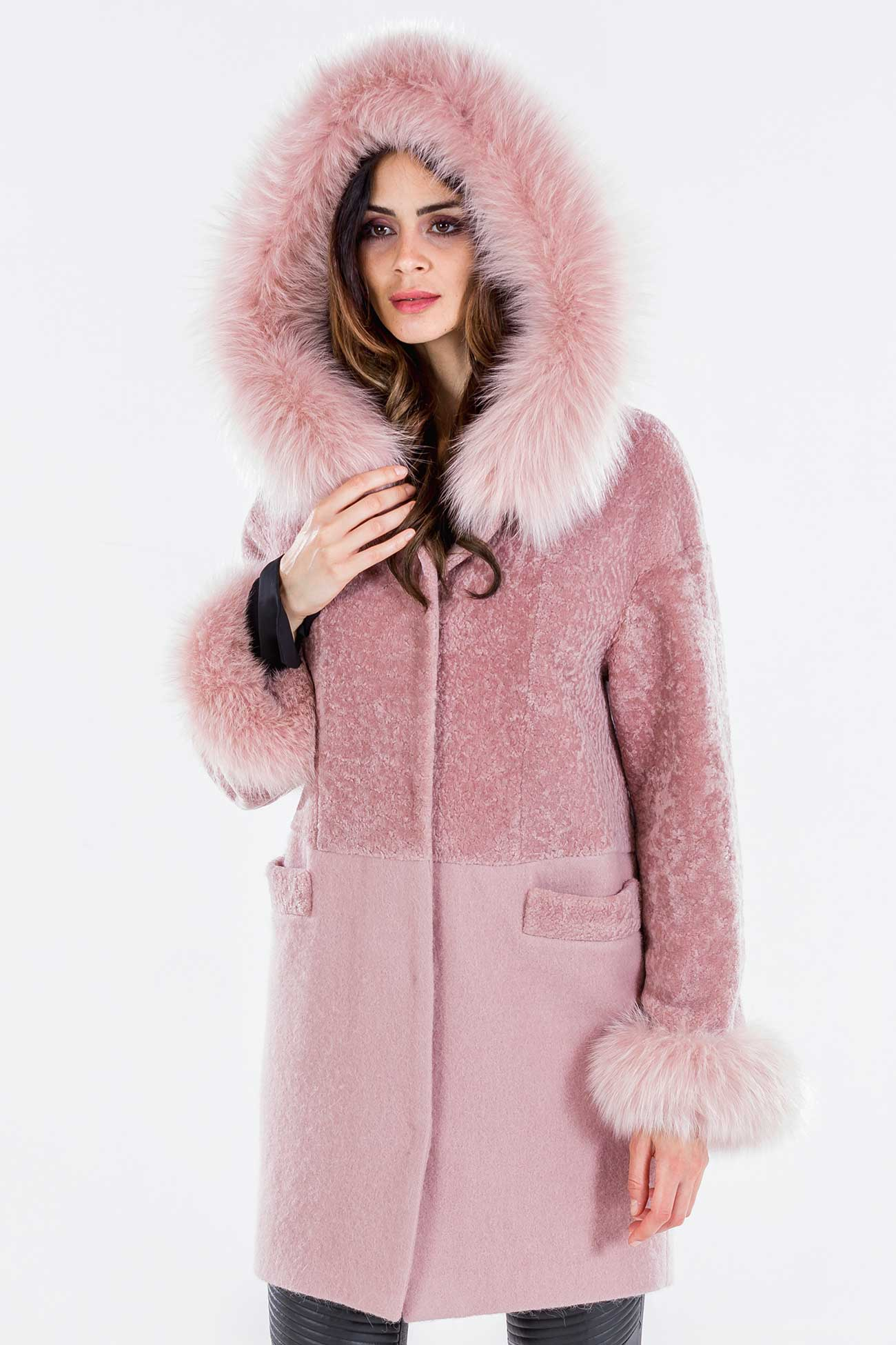 Shearling coat and mohair wool
