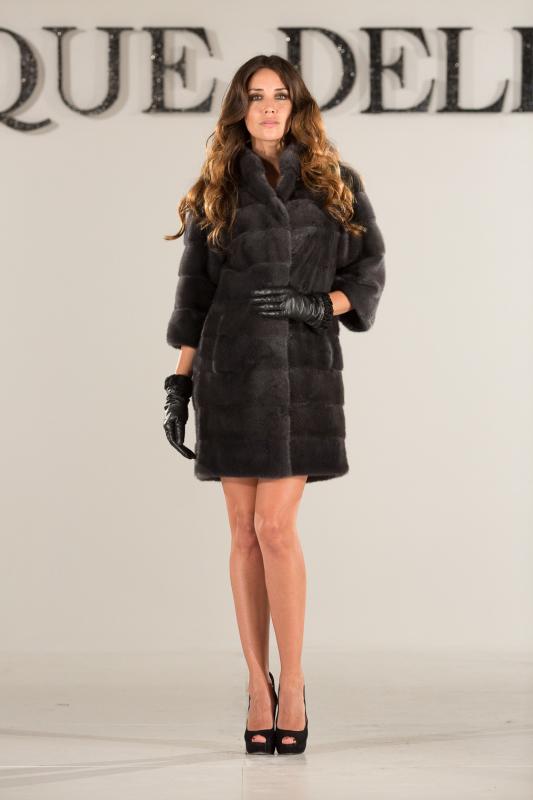 Carryover collection Metropolitan grey mink coat