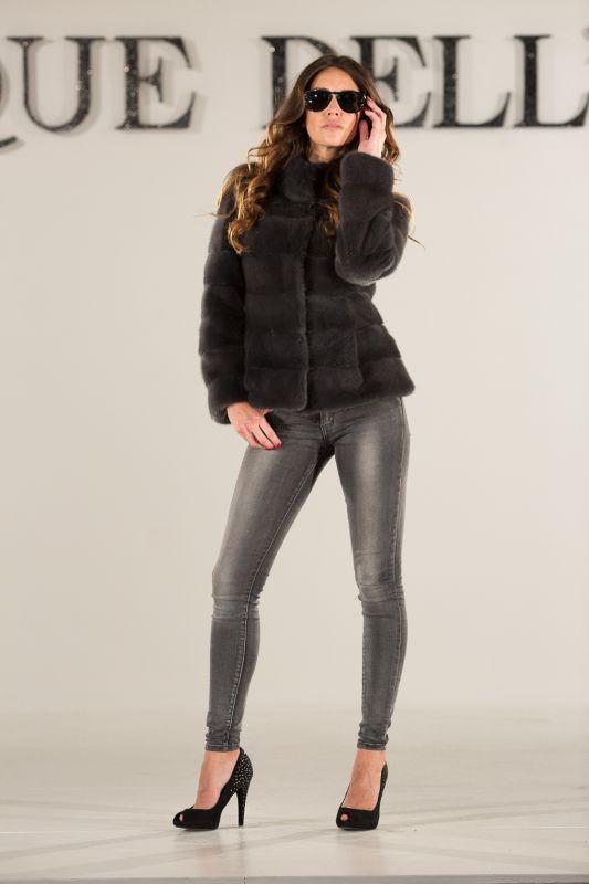 Carryover collection Metropolitan grey mink jacket