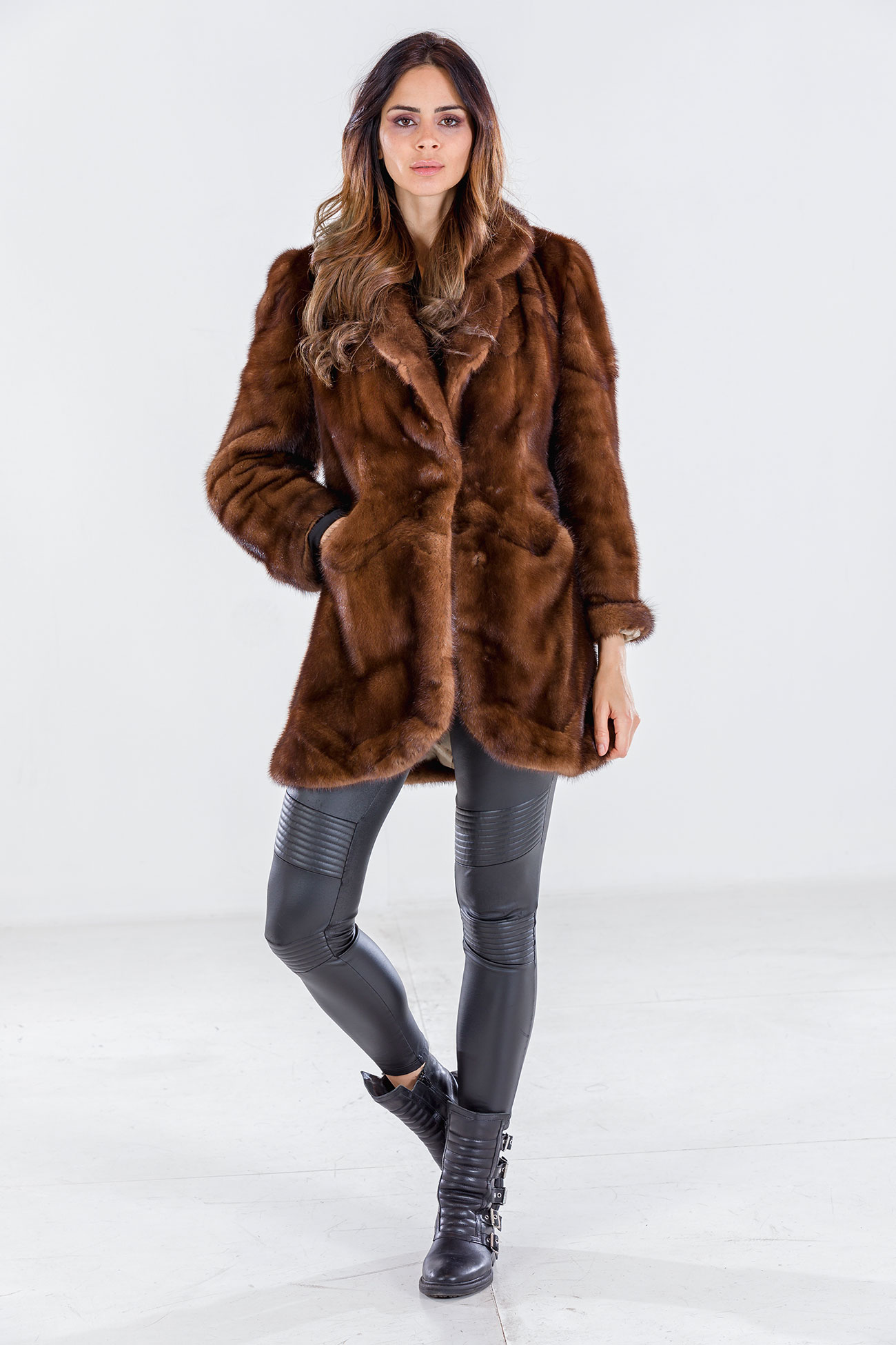 Demi buff mink jacket