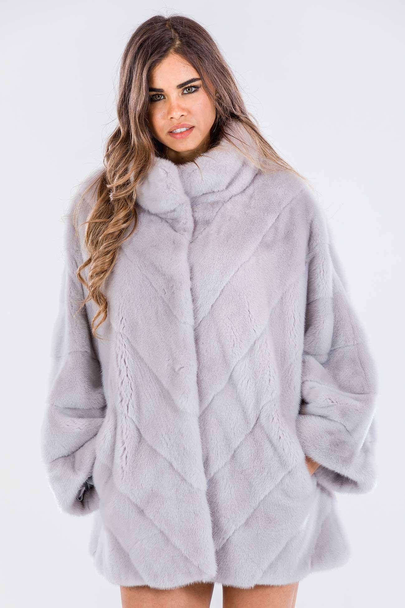 Giaccone visone oversize ice