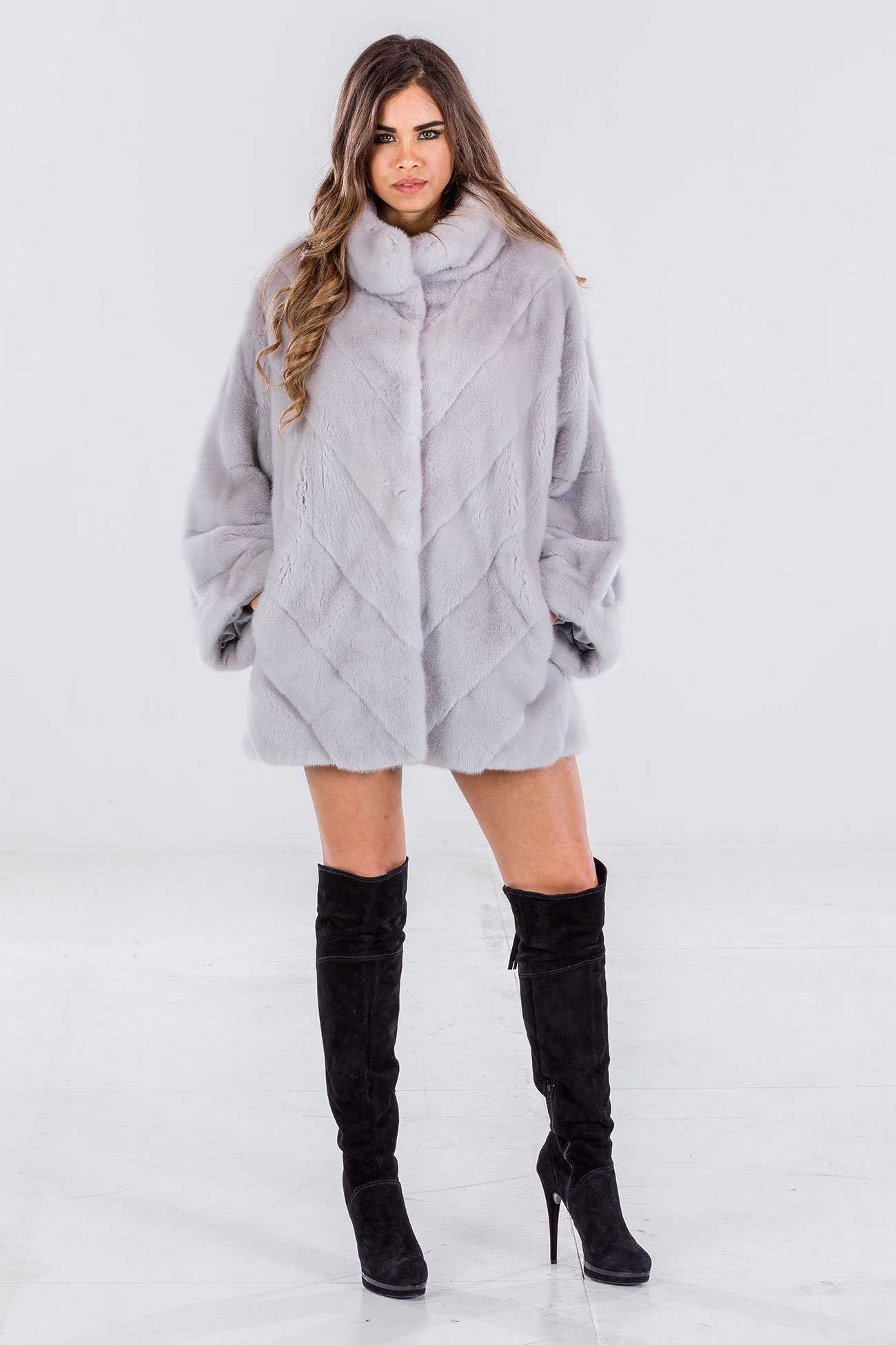 Mink ice oversize jacket
